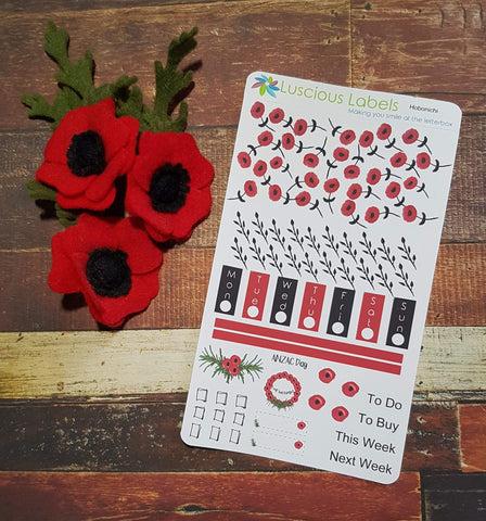 Weeks Kits for Small Planners - Watercolour Poppy