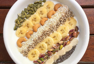 Low Fat Yogurt with Nuts