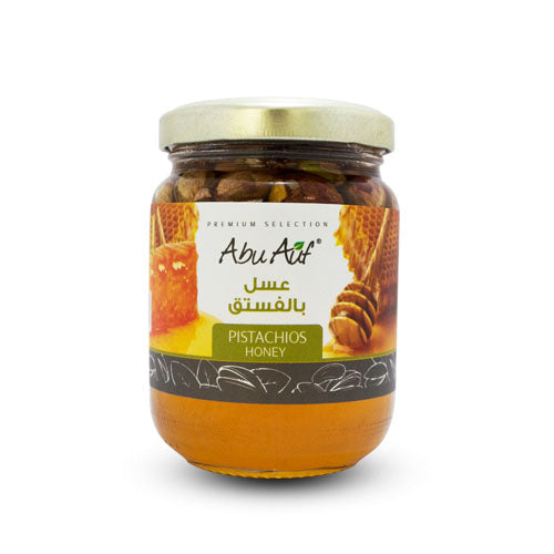 Abu Auf Pistachios Honey, 250 gm / عسل بالفستق - Abu-Auf.com