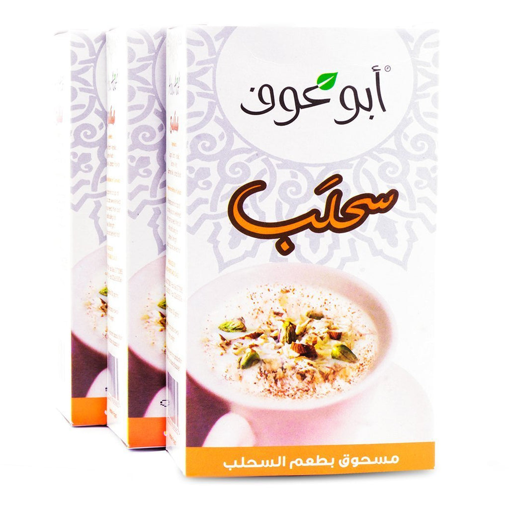 3 Boxes of Sahlab Drink With Nuts - 100gm  / مشروب السحلب بالمكسرات - Abu Auf