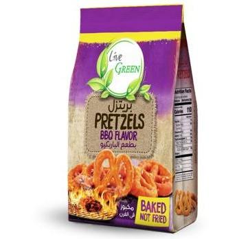 Live Green Roasted Pretzels with BBQ  / بريتزل محمص بطعم الباربكيو - Abu-Auf.com