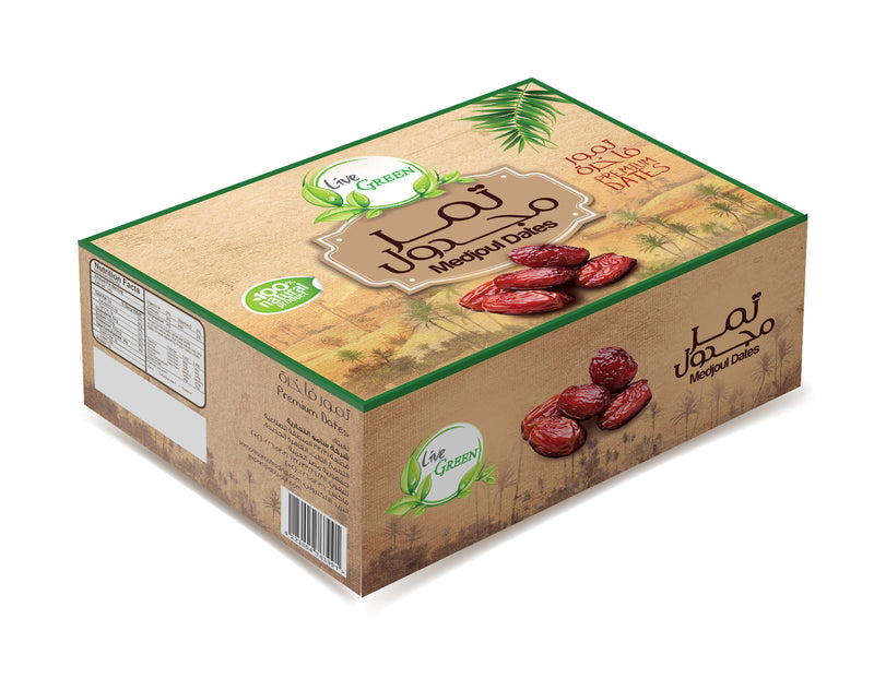 Live Green Medjoul Dates, 1 KG / تمر مجدول - 1 كيلو - Abu-Auf.com