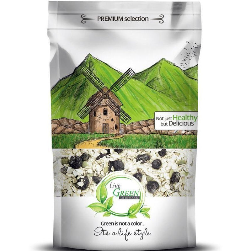 Live Green Oats Muesli Nuts & Dried Fruits 450 gm / حبوب المٌسلى - Abu-Auf.com