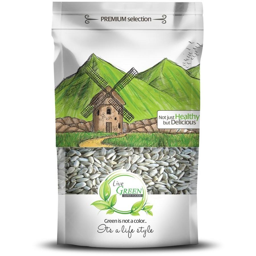 Live Green Kernel Sunflower Seeds, 450 gm / لب عباد الشمس - لب سورى مقشر - Abu-Auf.com