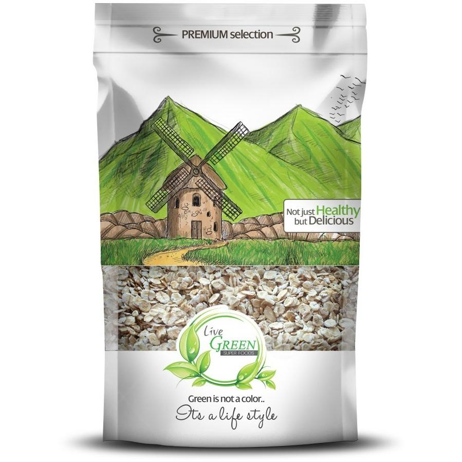 Live Green Cooking Oats, 450 gm / حبوب الشوفان - Abu-Auf.com