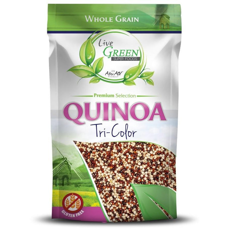Live Green Tri-Color Quinoa, 400 gm / كينوا  ألوان - Abu Auf