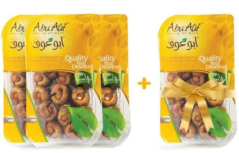 3 Boxes Premium Dates with Almonds 200 Gm + 1 For FREE / بلح باللوز - Abu-Auf.com