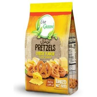 Live Green Roasted Pretzels with Cheese / بريتزل محمص بطعم الجبنة - Abu-Auf.com