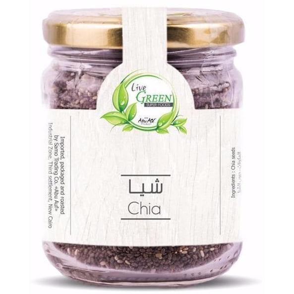 Live Green Chia Seeds, 115 gm / حبوب الشيا - Abu-Auf.com