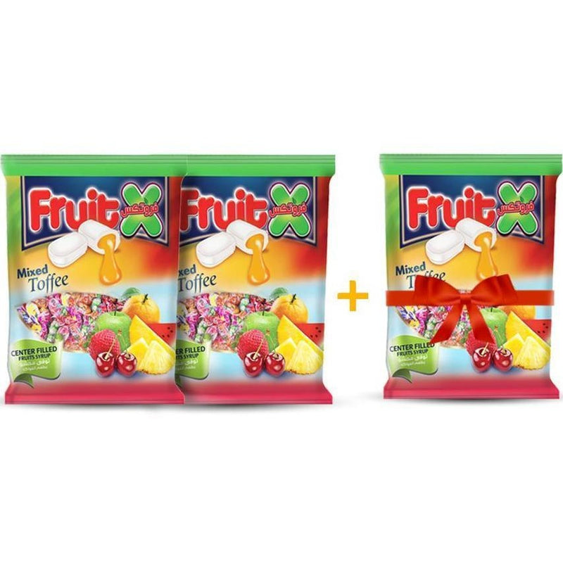 2 Packs Fruitx Toffe Stuffed With Fruit + 1 for FREE / توفى بالفواكه