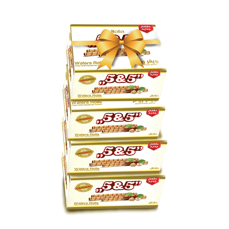 Jiola Wafer Rolls Stuffed 5&5 Offer 12 Pieces - (Buy 3 Get 1 Free)