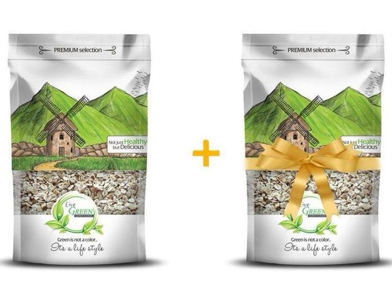 Live Green Cooking Oats 450 gm+ Pack of Oats for Free / شوفان 450 جم 1+1 هديه - Abu-Auf.com