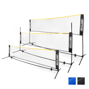 Portable Badminton Net Set - 10-Ft Mini Size for Tennis, Soccer Tennis, Pickleball, Kids Volleyball