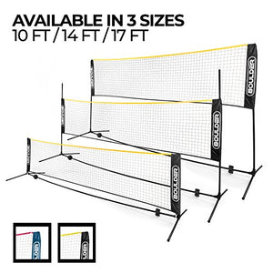 Portable Badminton Net Set - 14 Ft Size for Tennis, Soccer Tennis, Pickleball, Kids Volleyball