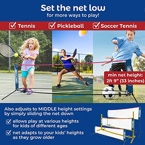 Portable Badminton Net Set - 17-Ft Size for Tennis, Soccer Tennis, Pickleball, Kids Volleyball