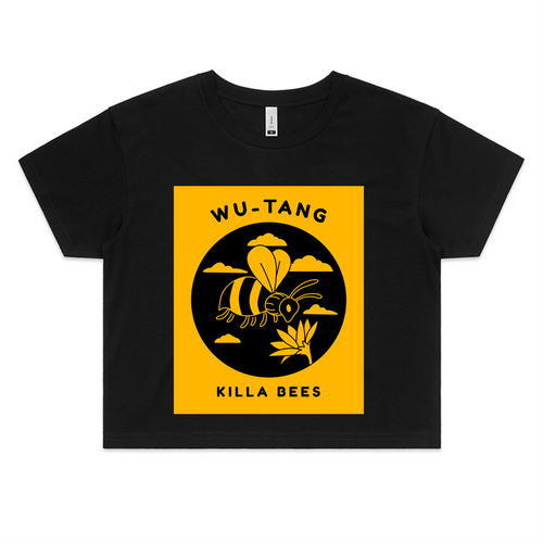 Spacely Clothing: Ice Cream Sundays Collaboration - Wu Tang Womens Crop Tee - SpacelyClothing