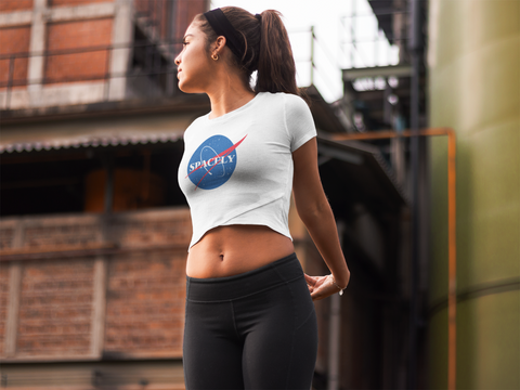 Space Explorer - Womens Scoop Neck T-Shirt - SpacelyClothing