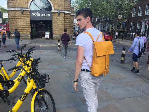 Meetup Backpack: Treat yourself to a bit of Luxury handmade in London