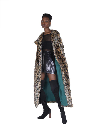 JADE FAUX FUR LEOPARD COAT
