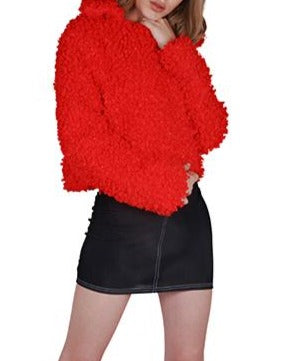 THE INDIA CROPPED FAUX SHEARLING JACKET