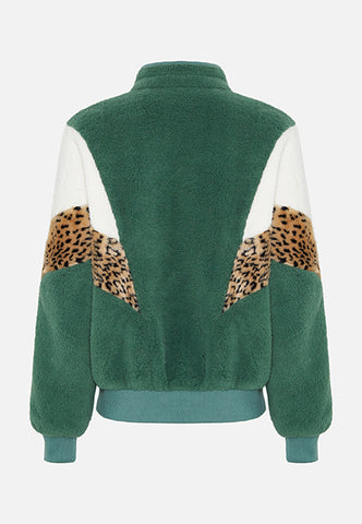 Green Teddy Bomber Jacket