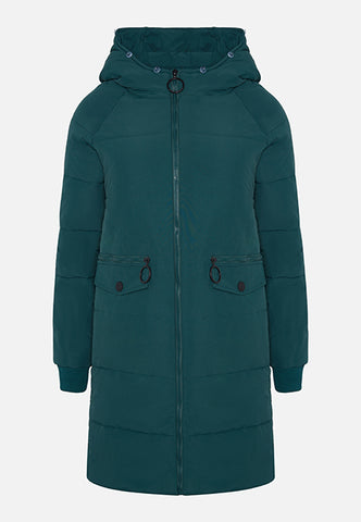 THE MILA JADE LONG PUFFA COAT
