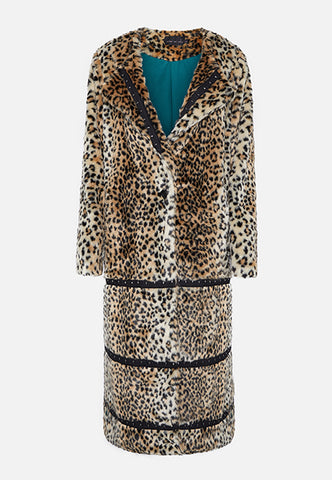 THE JADE FAUX FUR LEOPARD COAT