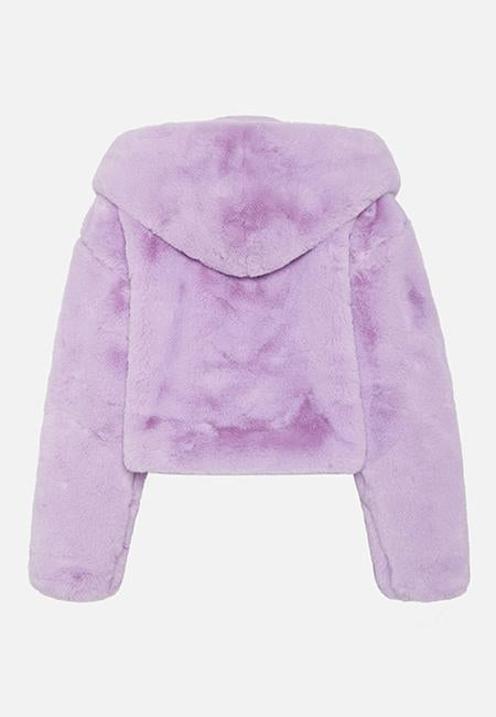 XENA LILAC CROPPED HOODED JACKET