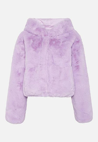 Story Of Lola | THE XENA LILAC CROPPED HOODED JACKET