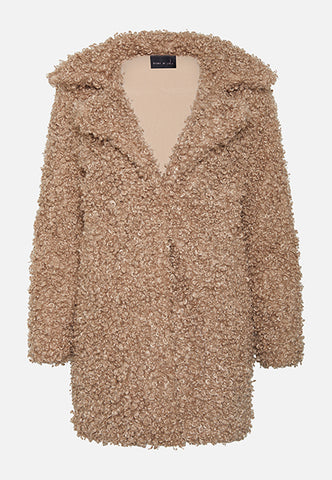 THE INDIA FAUX SHEARLING BEIGE JACKET - Story Of Lola