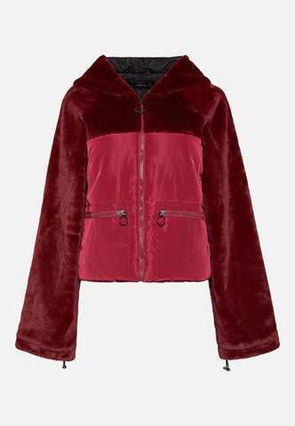 ASHLEY BURGUNDY PUFFA JACKET