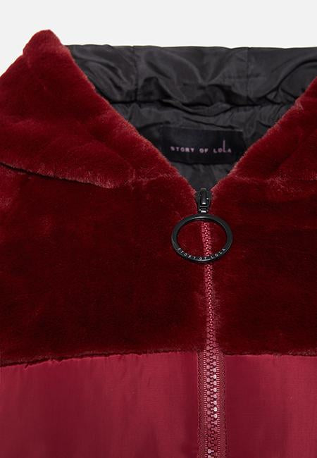 Story Of Lola | THE ASHLEY BURGUNDY PUFFA JACKET