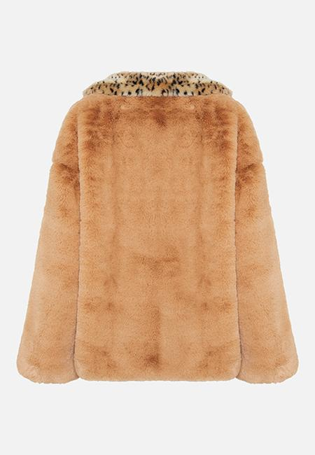 THE AMBAR SISTER FAUX FUR JACKET - ANIMAL PRINT - Story Of Lola