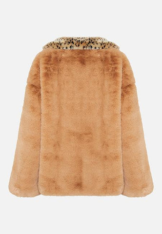 Story Of Lola | THE AMBAR SISTER FAUX FUR JACKET - ANIMAL PRINT
