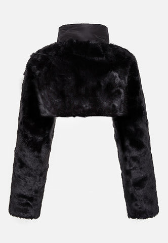 Chic Cropped Mini Fur Jacket