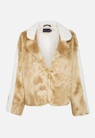 AMBER FAUX FUR JACKET