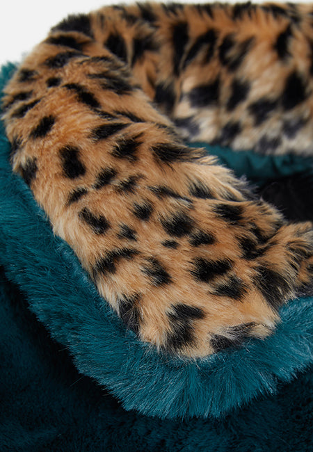THE LUNA FAUX FUR GREEN AND LEOPARD JACKET - Story Of Lola