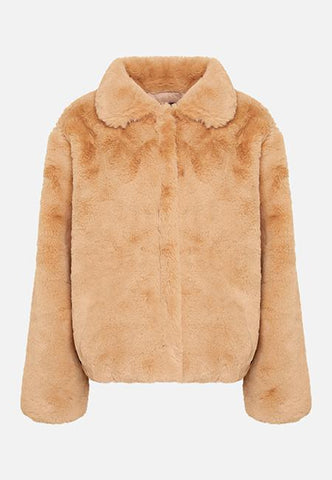 THE LUNA FAUX FUR CAMEL JACKET - Story Of Lola