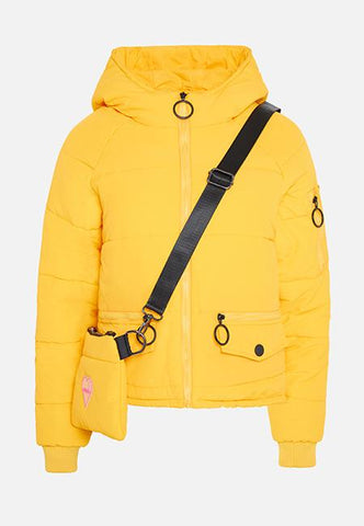 THE LEXI YELLOW PUFFA JACKET - Story Of Lola