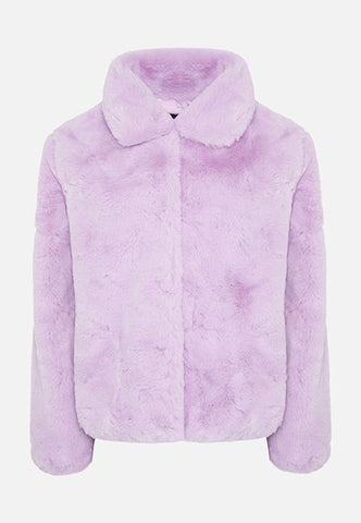 Story Of Lola | THE LUNA FAUX FUR LILAC JACKET