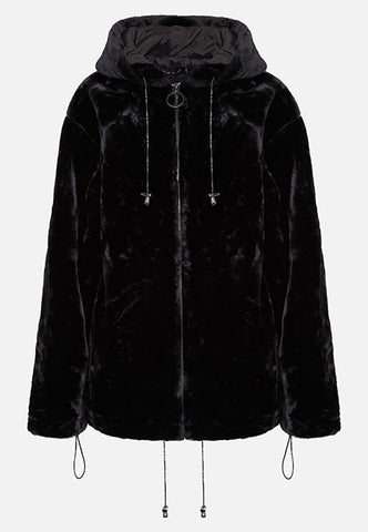 THE BLACK LOLA HOODIE (FULL ZIP)