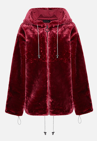 THE BURGUNDY LOLA HOODIE (FULL ZIP)
