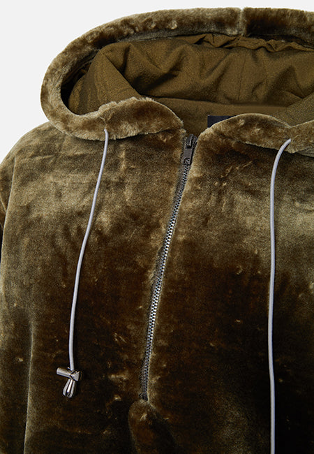 THE KHAKI LOLA HOODIE (HALF ZIP) - Story Of Lola