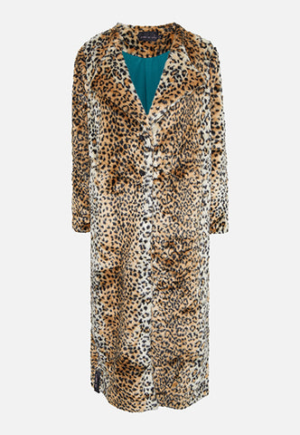 Story Of Lola | THE JADE FAUX FUR LEOPARD COAT