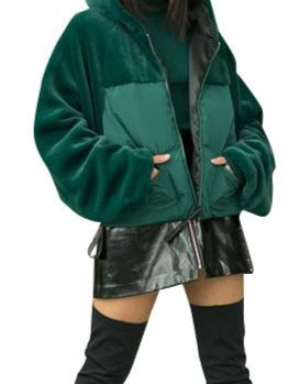 ASHLEY GREEN PUFFA JACKET