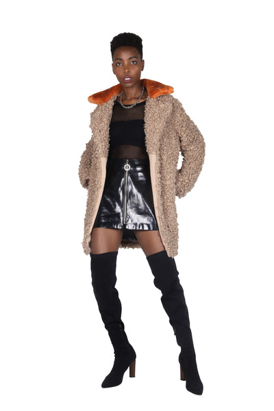 JESSI FAUX SHEARLING JACKET