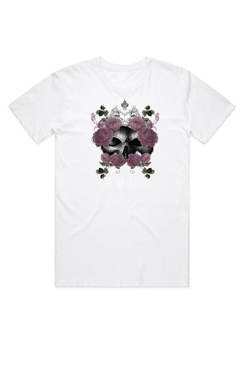Super Size Skully T-Shirt - White