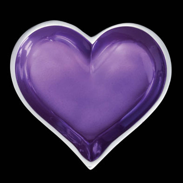 February Amethyst Birthstone Heart W/ Spoon