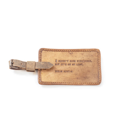 Susan Sontag - Leather Luggage Tag