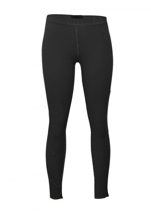 Gloria Black Cotton Knit Leggings W/ Coupes